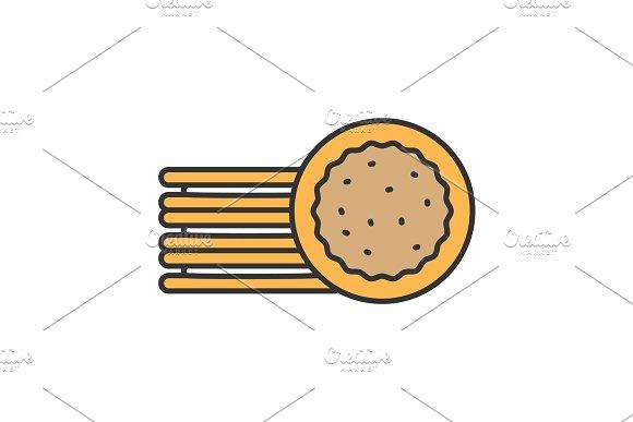 Sandwich Cookies Color Icon