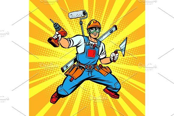 Multi-armed Builder Repairman