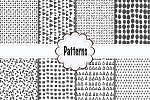 Minimal Black and White Pattern Set
