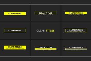 Clean Titles (.mogrt)