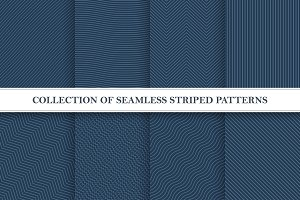 Set of seamless striped patterns.
