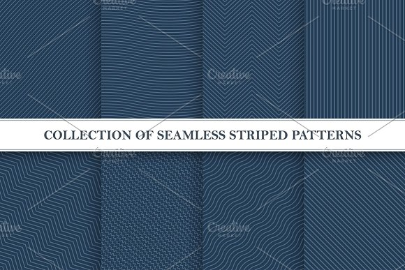 Set Of Seamless Striped Patterns