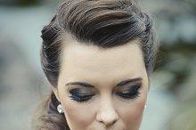 Glamour makeup. Closeup.