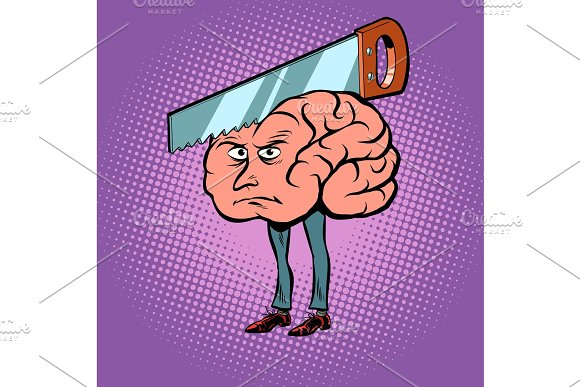 Headache Saw In The Brain