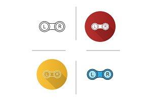 Eye contact lens box icon