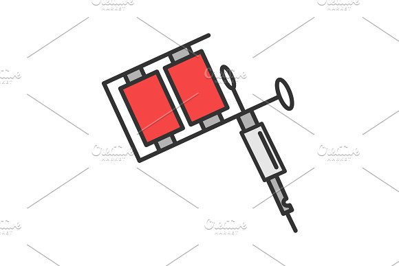 Tattoo Machine Color Icon