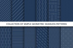 Minimal geometric seamless patterns.