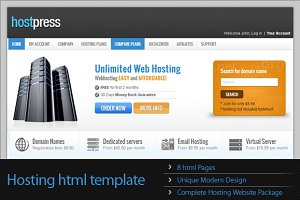 HostPress HTML Template