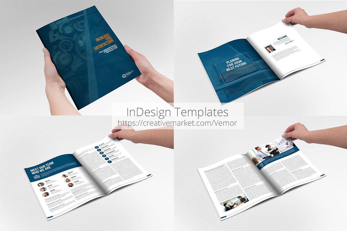 business annual indesign template brochure templates creative market. Black Bedroom Furniture Sets. Home Design Ideas