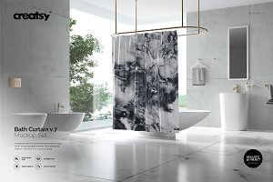 Bath Curtain Mockup v.7