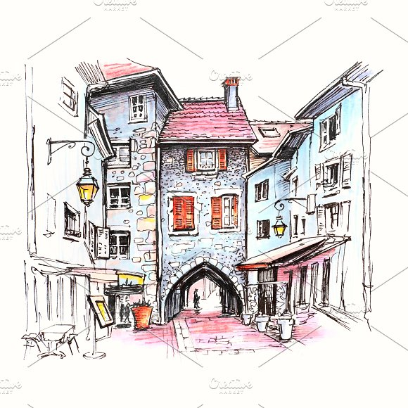 Sepulchre Gate In Old Town Of Annecy France
