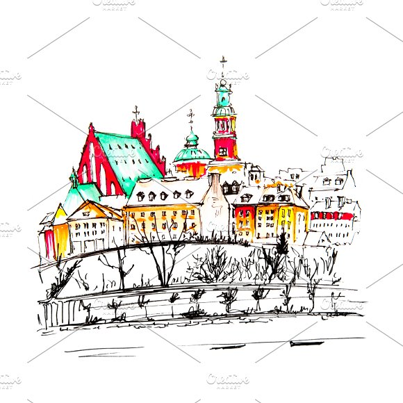 Old Town And River Vistula In Warsaw Poland