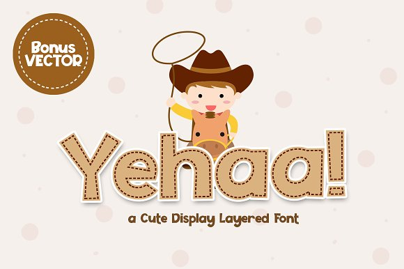 Yehaa Layered Font