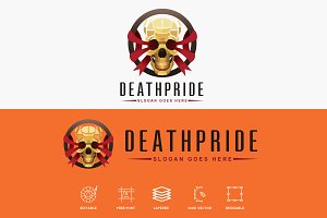 Death Pride Golden Skull Logo