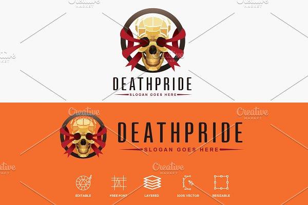 Death Pride Golden Skull Logo