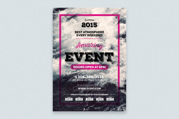 Event Poster Template Flyer Templates Creative Market