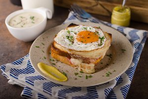 Croque madame sandwich, delish food