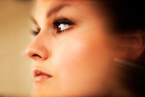 Young, elegant woman portrait