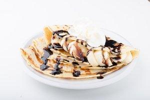 Crepes bio homemade, food photography, delish dessert