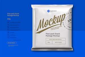 Flow-pack Snack Bar  Mockup