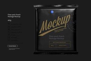 Flow-pack Snack Bar  Mockup