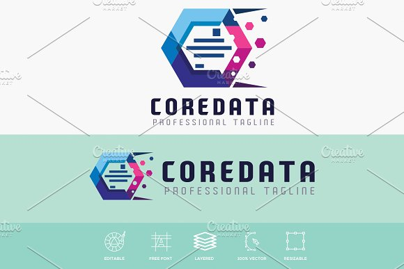 Core Data Hexagonal Logo