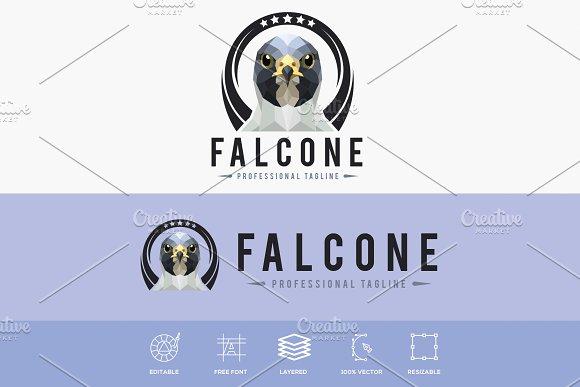 Valcone Bird Polygonal Logo