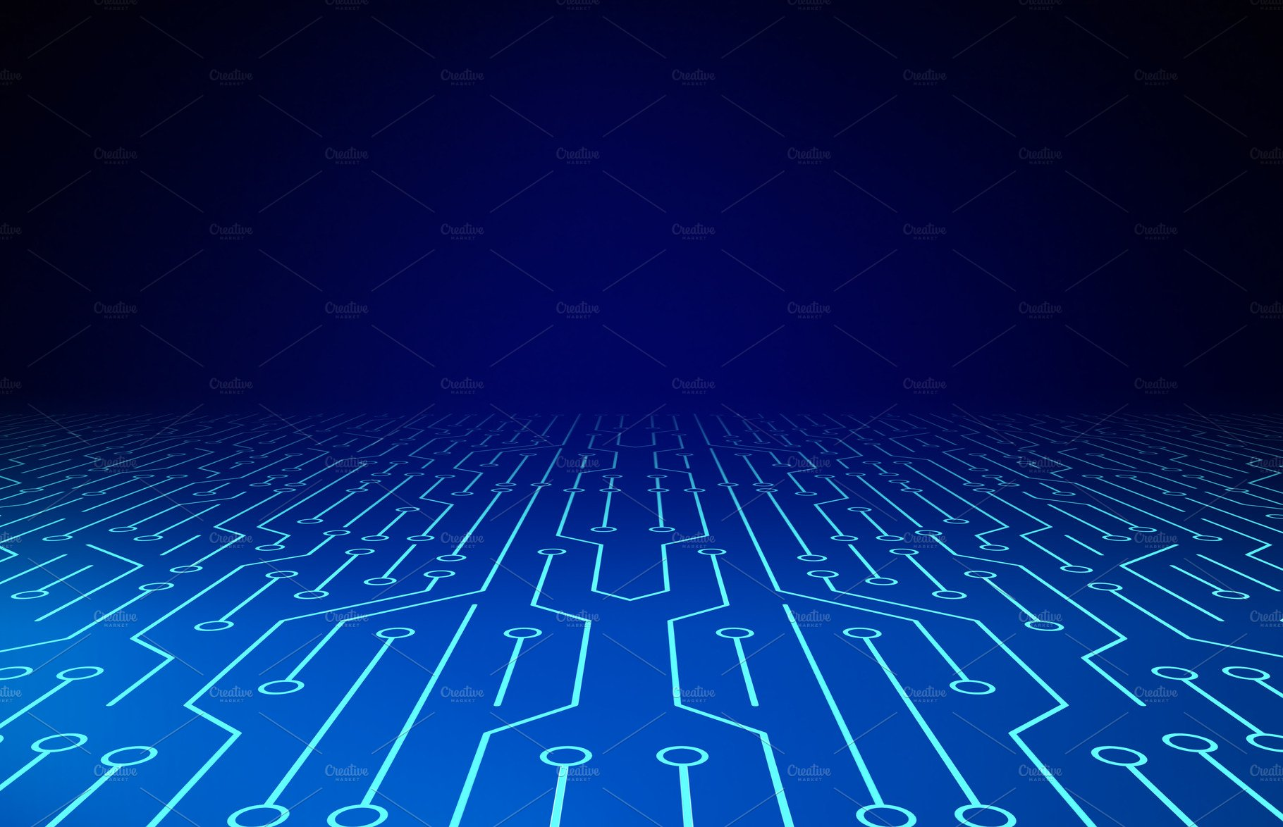Circuit Board High Tech Technology Background Texture Pattern Photo Of Abstract Blue Vector With 3d Illustration Illustrations Creative Market