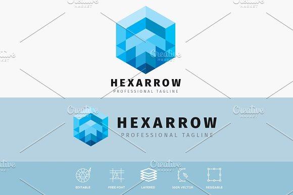 Hexagonal Arrow Logo