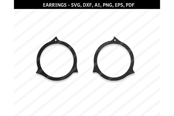 Abstract Earrings Svg Dxf Eps Png