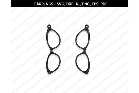 Spectacles Earrings Svg Dxf Ai Eps