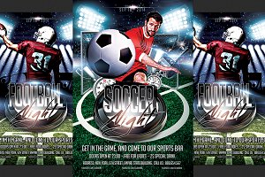 Football and Soccer Flyer