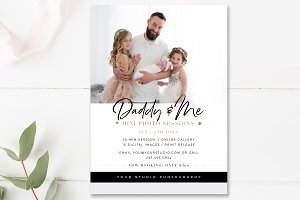 Daddy & Me Mini Session Template