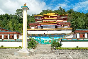Indian buddhistic monastery