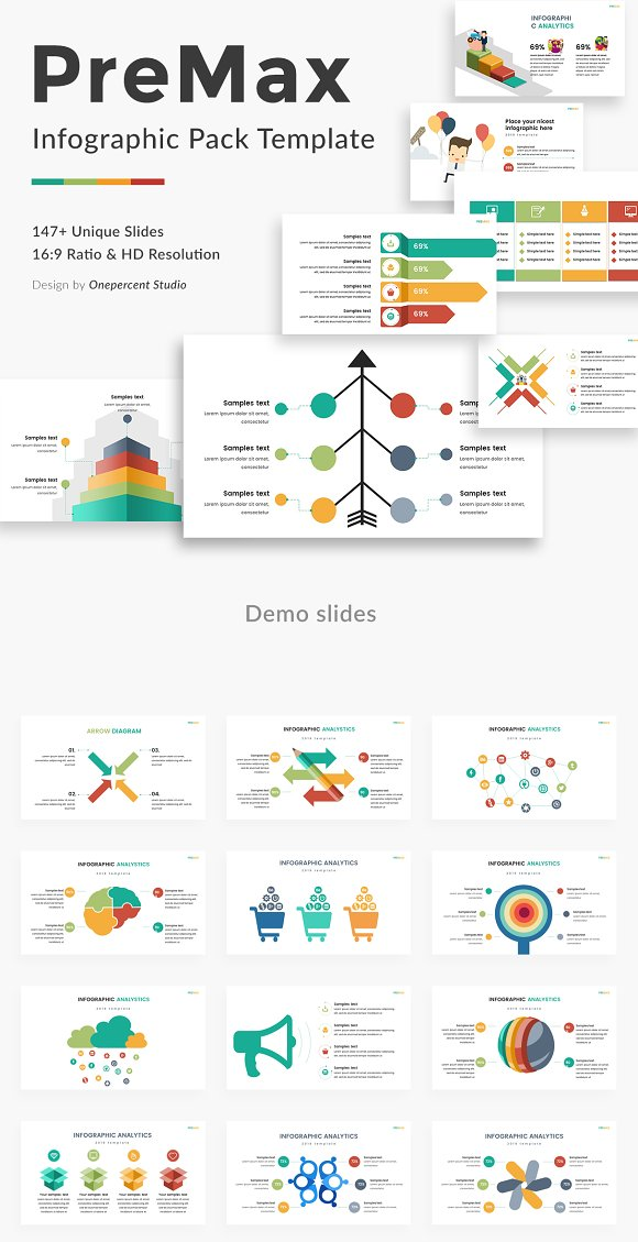 Premax Infographic Pack Powerpoint