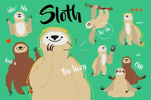 Sloth illustrations