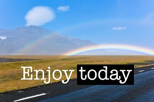 Enjoy today Landscape with double