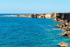 Summer sea coast landscape