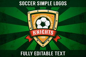 Soccer Simple Logo Set