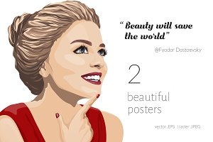 'Be beautiful' posters