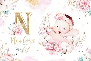 Newborn baby collection.