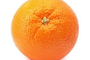 Whole orange isolated on white