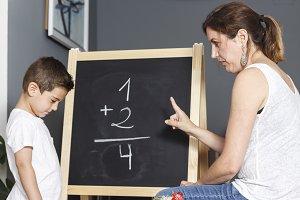Boy incorrectly decisive simple math