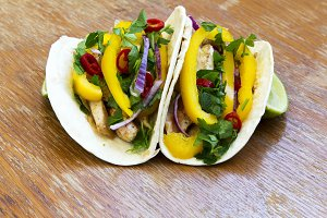 Tasty corn tortillas with fresh