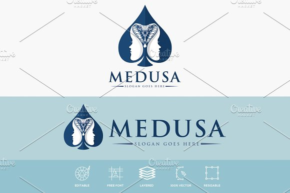 Medusa Lady Logo