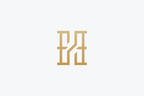 Premium Initial HE Logo