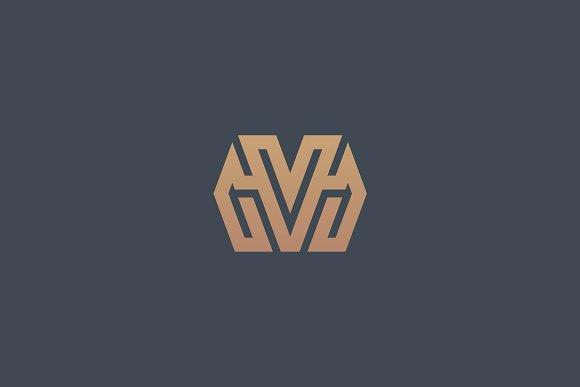 Premium Initial MV Logo