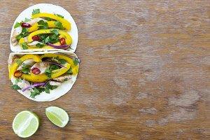 Delicious corn tortillas with fresh