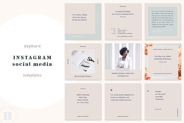 Instagram Templates: Head of House - Hepburn Instagram Post Templates