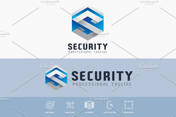 Security Hexagonal Logo